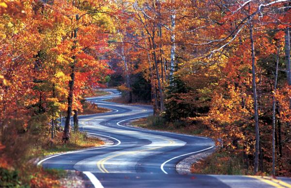 The northern end of Highway 42 in Door County, Wisconsin.