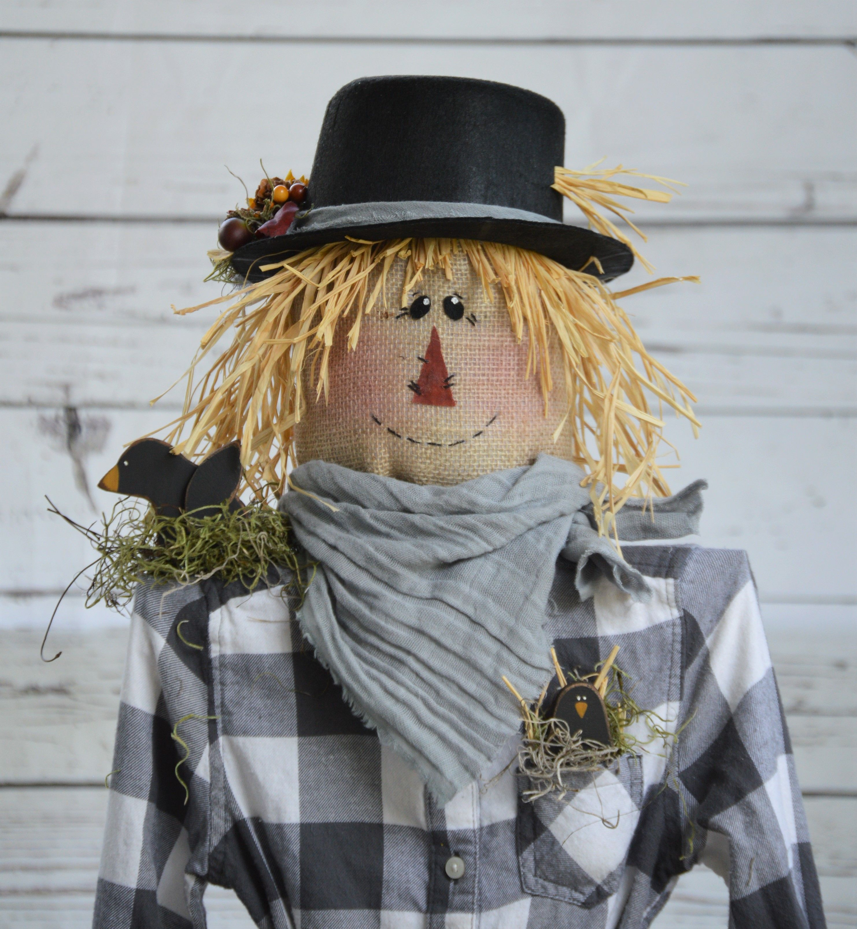 Fall Scarecrow Craft Pattern Dyi Great For Your Fall Porch