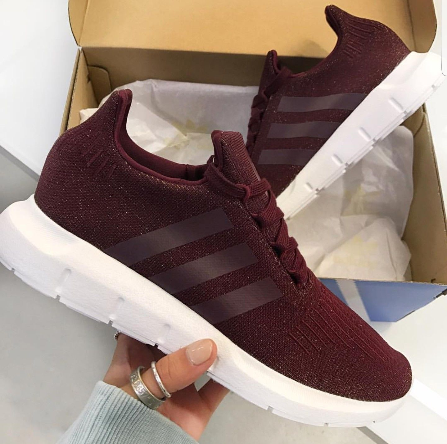 on sale 30afc 10710  adidas originals Swift Run in Maroon .  sneakerlove  sneakers  trainers   fitness  gym  fitspo