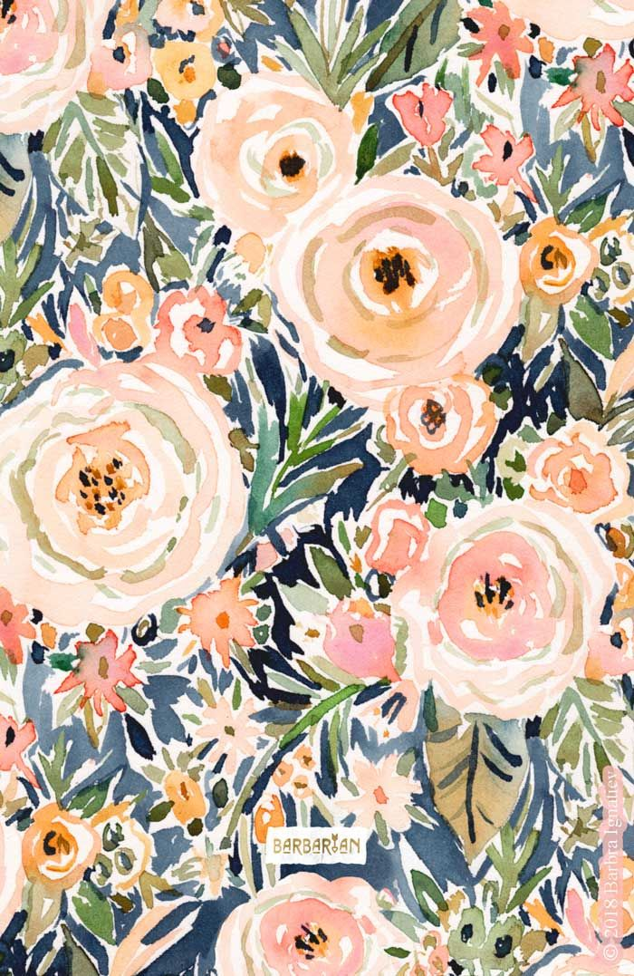 SINGER-SONGWRITER Romantic Dark Floral – BARBARIAN by Barbra Ignatiev   Bold colorful art