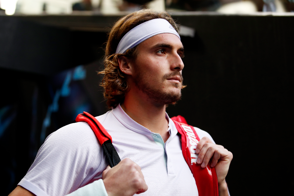 Stefanos Tsitsipas Looking To Loosen Up In 2020 Tennis Com Live Scores News Player Rankings In 2020 Tennis Players Tennis News Players