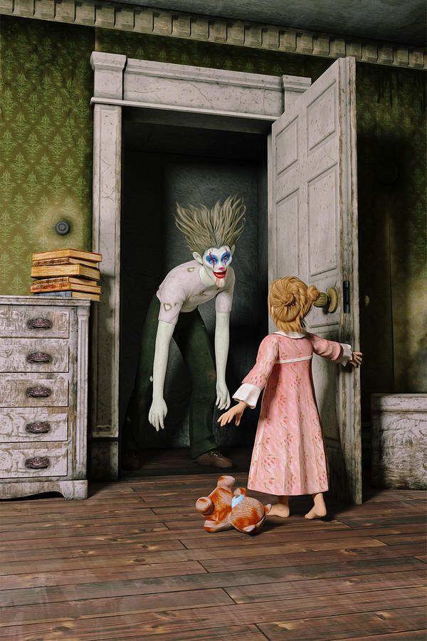Mr Kreepy The Clown Fine Art Print. Creepy Clowns, Little