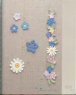 Crochet and Other Stuff: Crochet a Flower Accent - free | Crochet ...