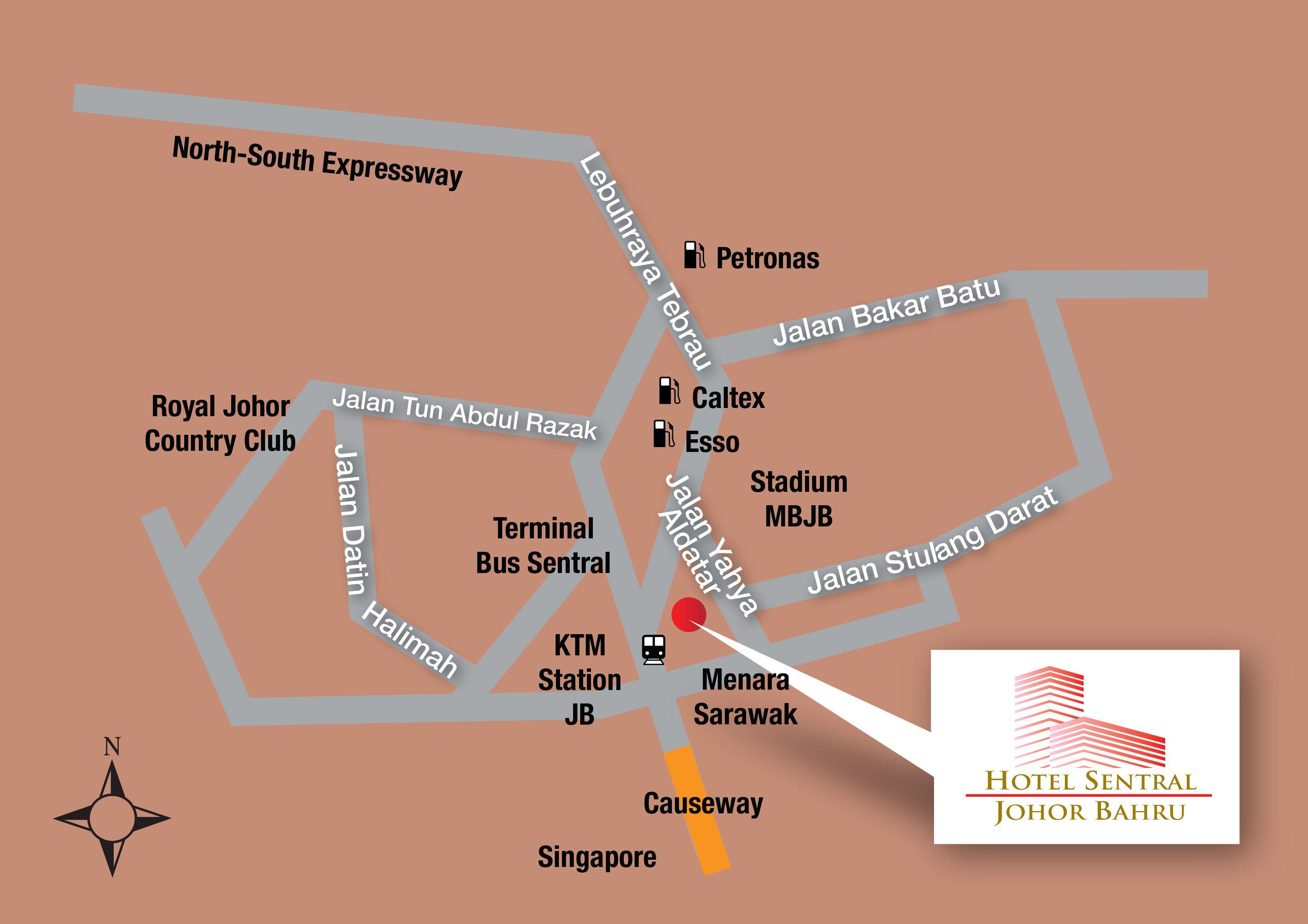 Hotel Sentral Johor Bahru Hotel Sentral Johor Bahru Location Map Follow Us Https Www