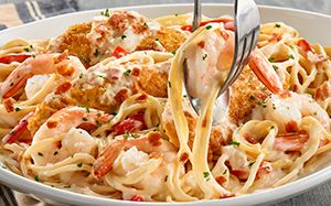Chicken Shrimp Carbonara Chicken Carbonara Recipe Chicken And Shrimp Carbonara Chicken Carbonara Olive Garden