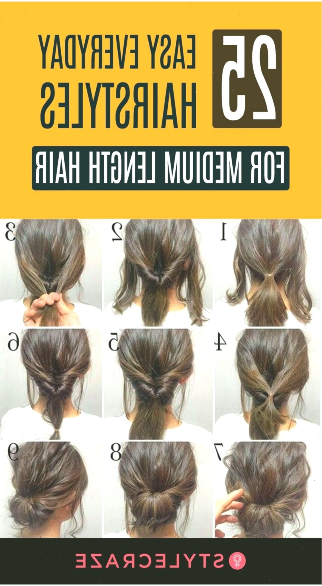 25 Easy Everyday Hairstyles For Medium Length Hair Hairstyles Women Hairstyle Frisur Easy Everyday Hairstyles Medium Length Hair Styles Everyday Hairstyles