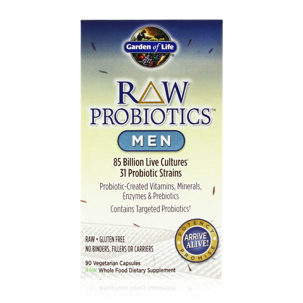 Garden Of Life Raw Probiotics Men 85 Billion 90 Vegetarian