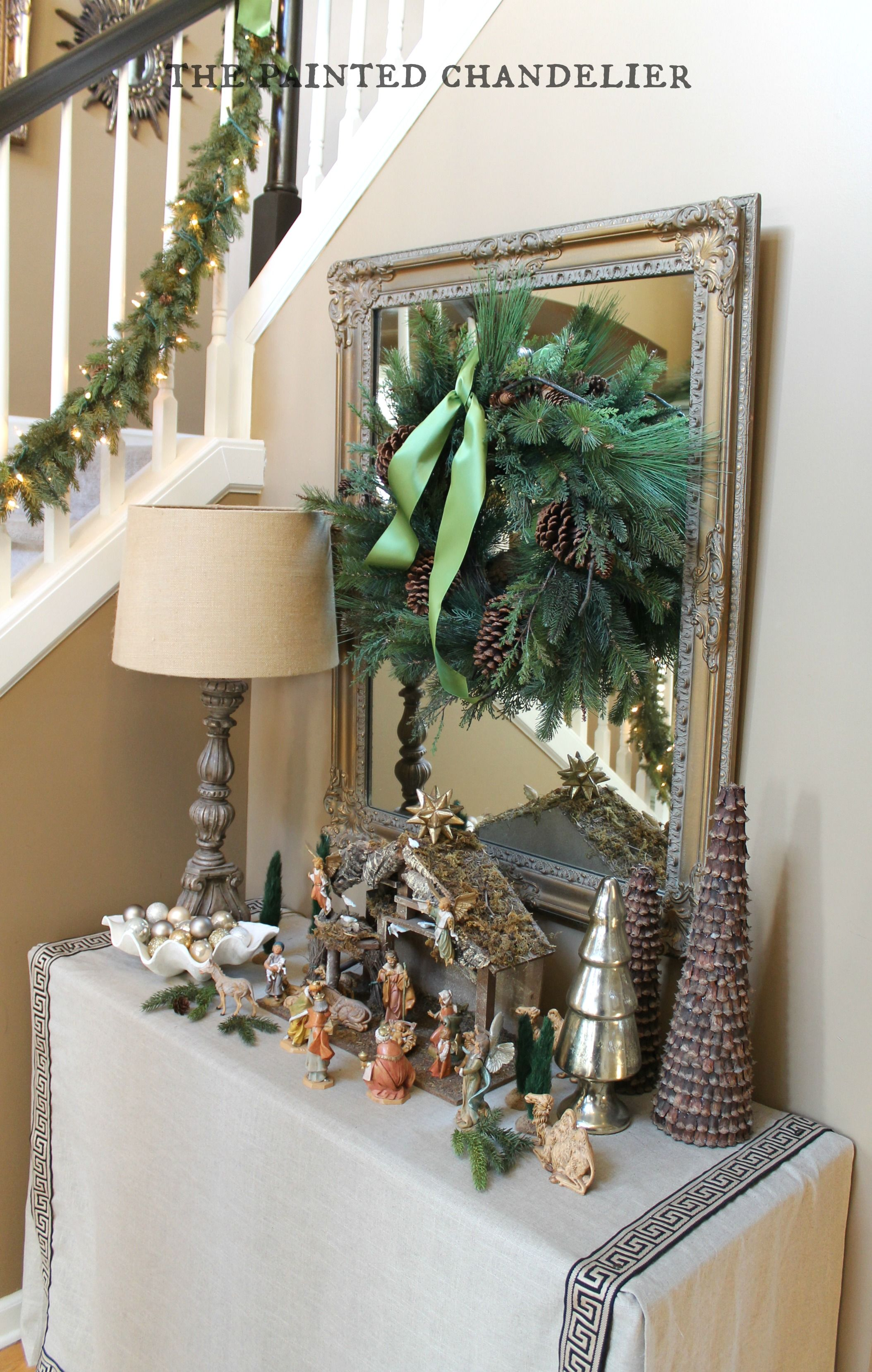 Christmas entryway on the painted chandelier blog my interior christmas entryway on the painted chandelier blog arubaitofo Image collections