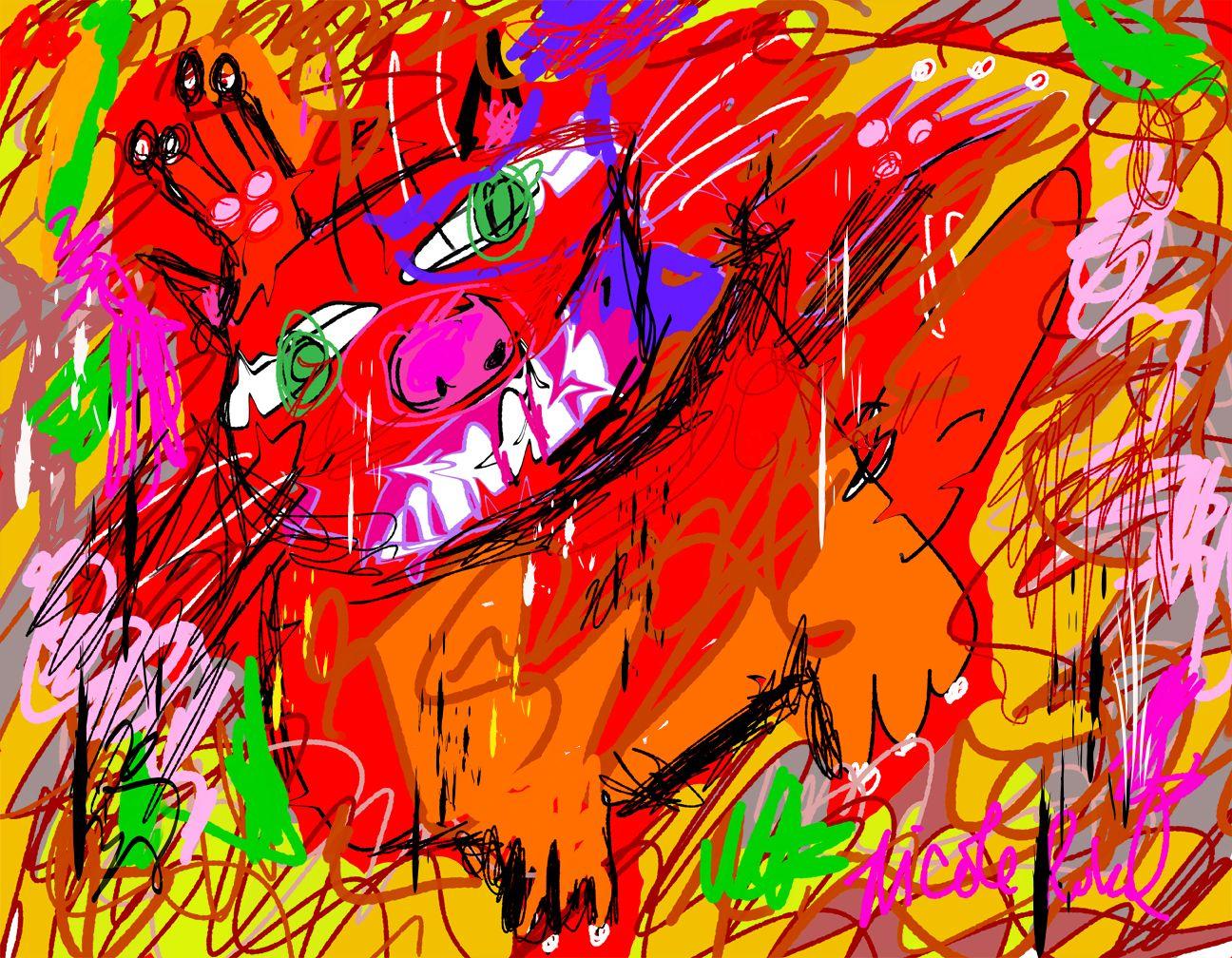 """Willem de Kooning is the inpirations for, """"Ralph de Kooning,"""" by Nicole Rubel. www.nicolerubel.com"""