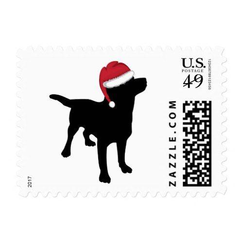 MERRY CHRISTMAS LABRADOR DOG CUTE SANTA HAT GIFT LABELS HOMEMADE XMAS PRESENTS