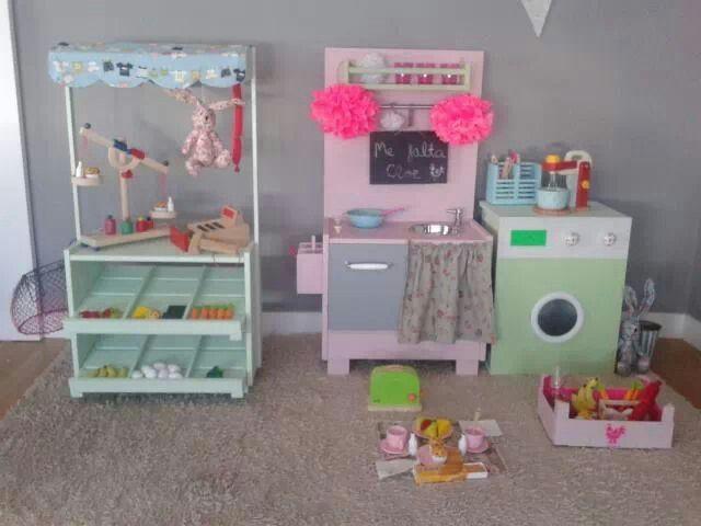 Conjunto muebles madera para niños de Me falta Cloe. mefaltacloe ...