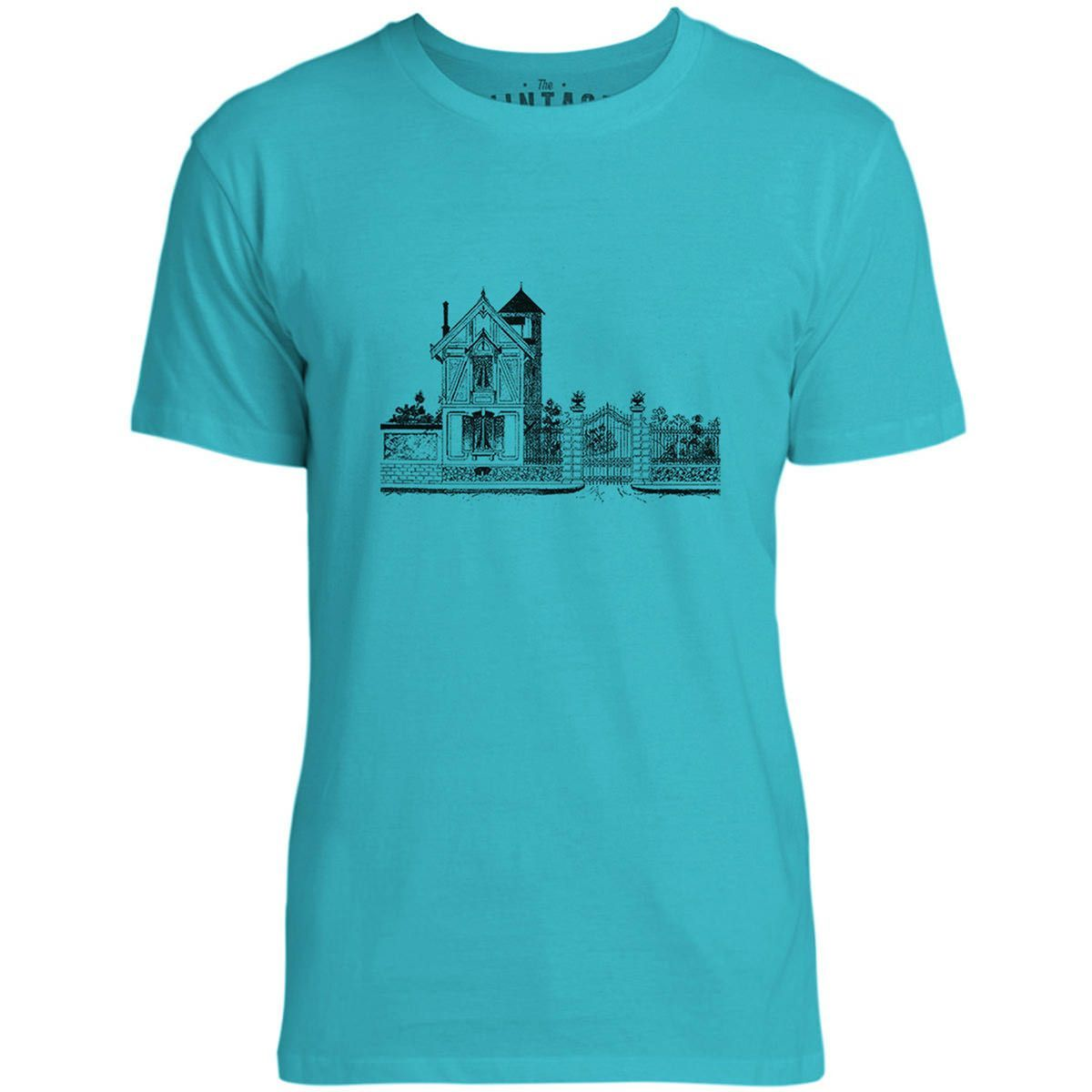 Mintage French Mansion Mens Fine Jersey T-Shirt (Teal)