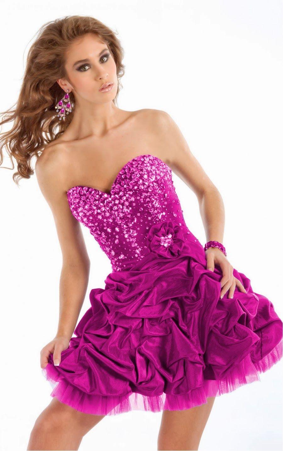 Hermosos vestidos de fiesta 2014 | vestidos cortos | Pinterest ...