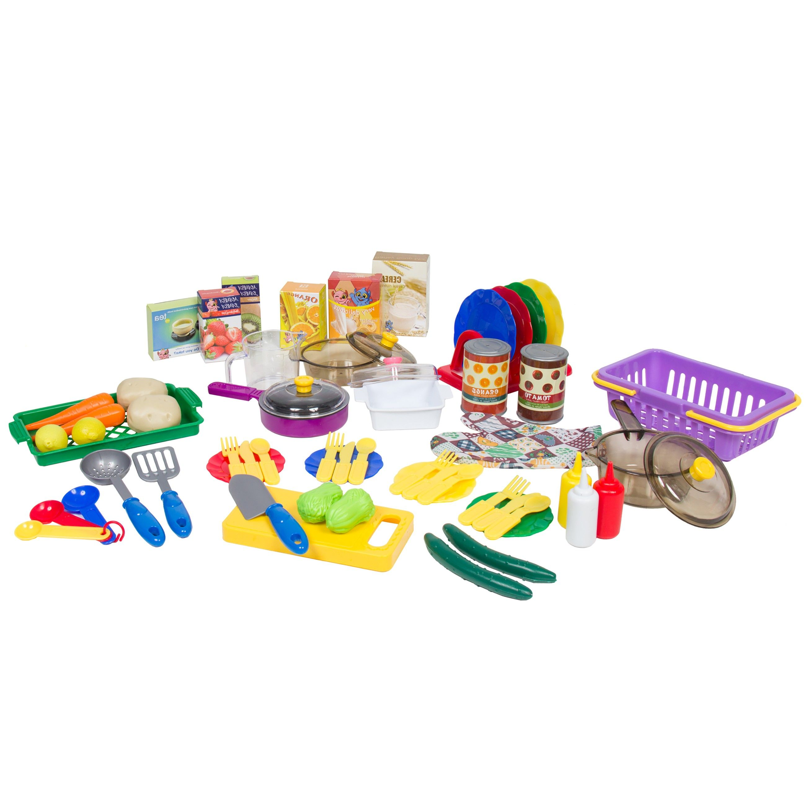 deluxe children kitchen cooking pretend play set with accessories ...
