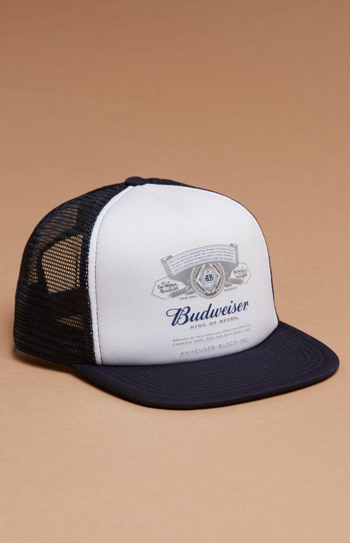 x Budweiser Foam Snapback Trucker Hat  2442743dd50c