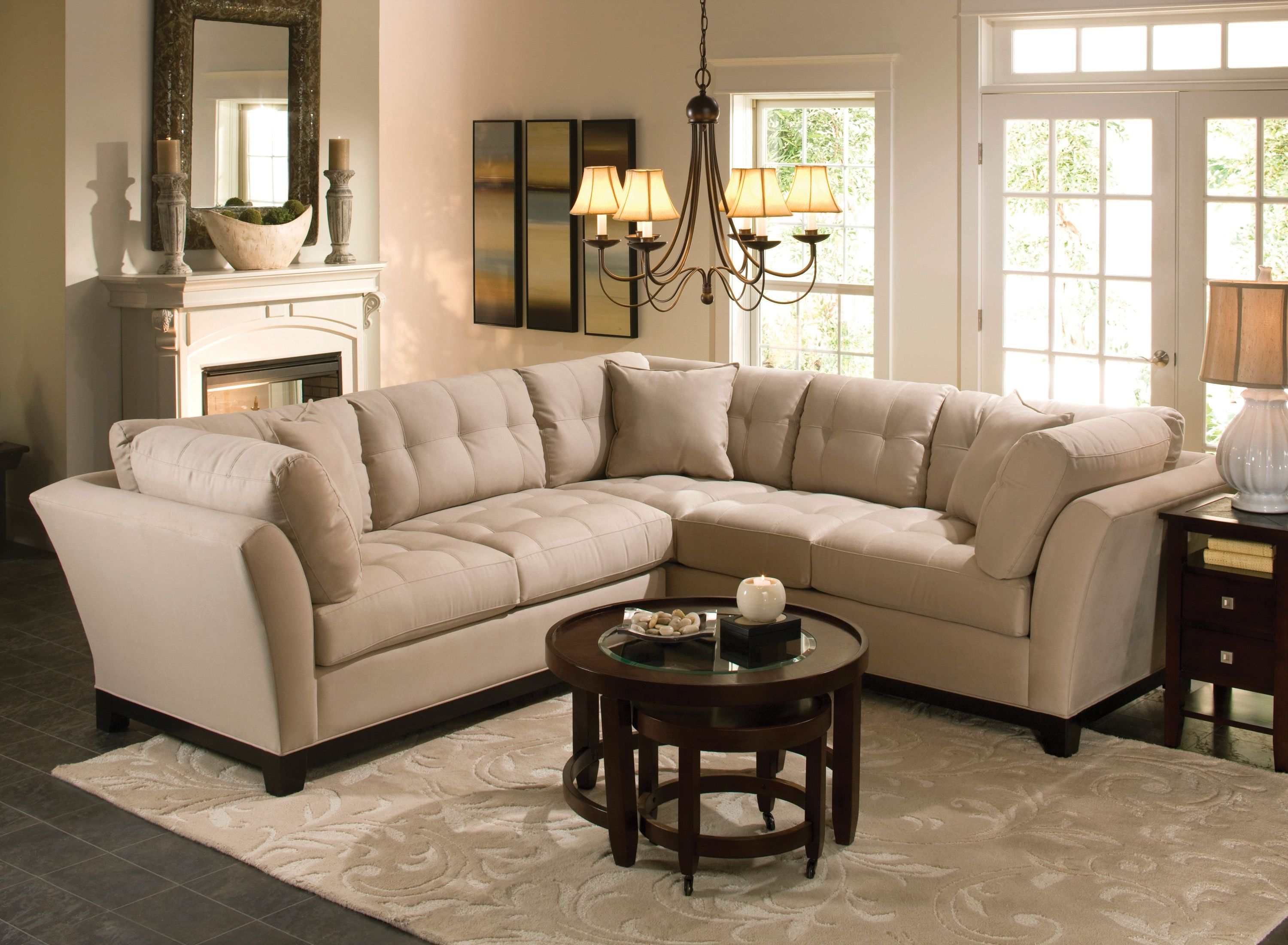 Beauty And Comfort Are The Signatures Of This Cindy Crawford Home  ~ Cindy Crawford Home Sofa