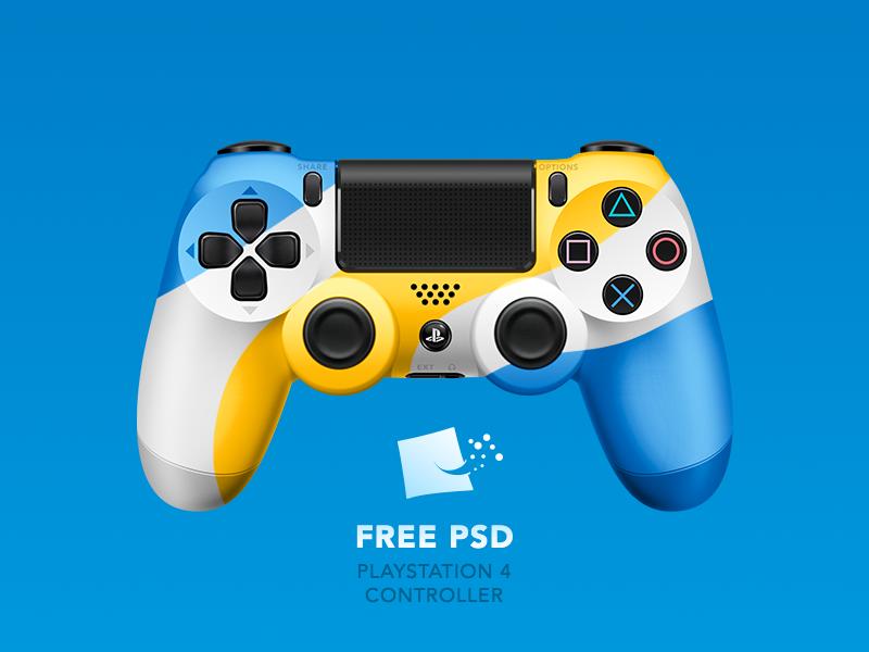 Dualshock 4 Free Psd Ressources