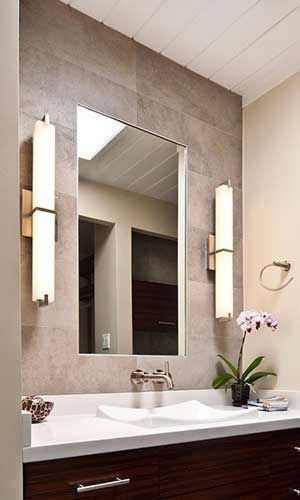 Bathroom Wall Sconce  Wall Sconces Beside Fireplace  Pinterest Prepossessing Wall Sconces Bathroom Decorating Inspiration