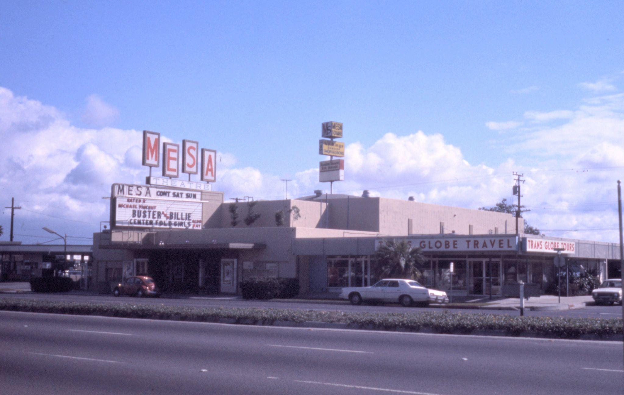 Mesa Theater Newport Blvd Costa Mesa 1974 Orange County