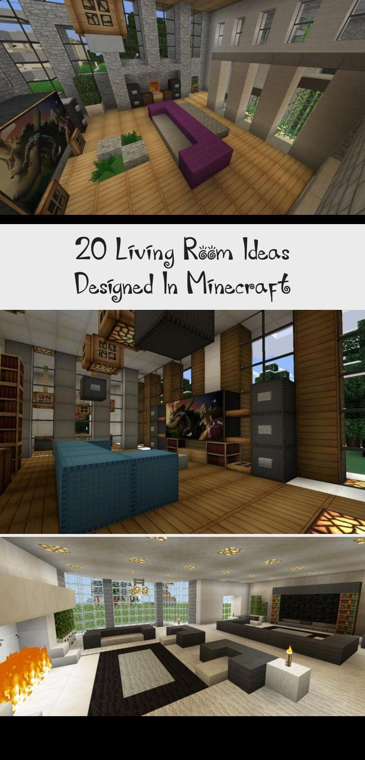 20 Living Room Ideas Designed In Minecraft in 2020 | Cheap ...