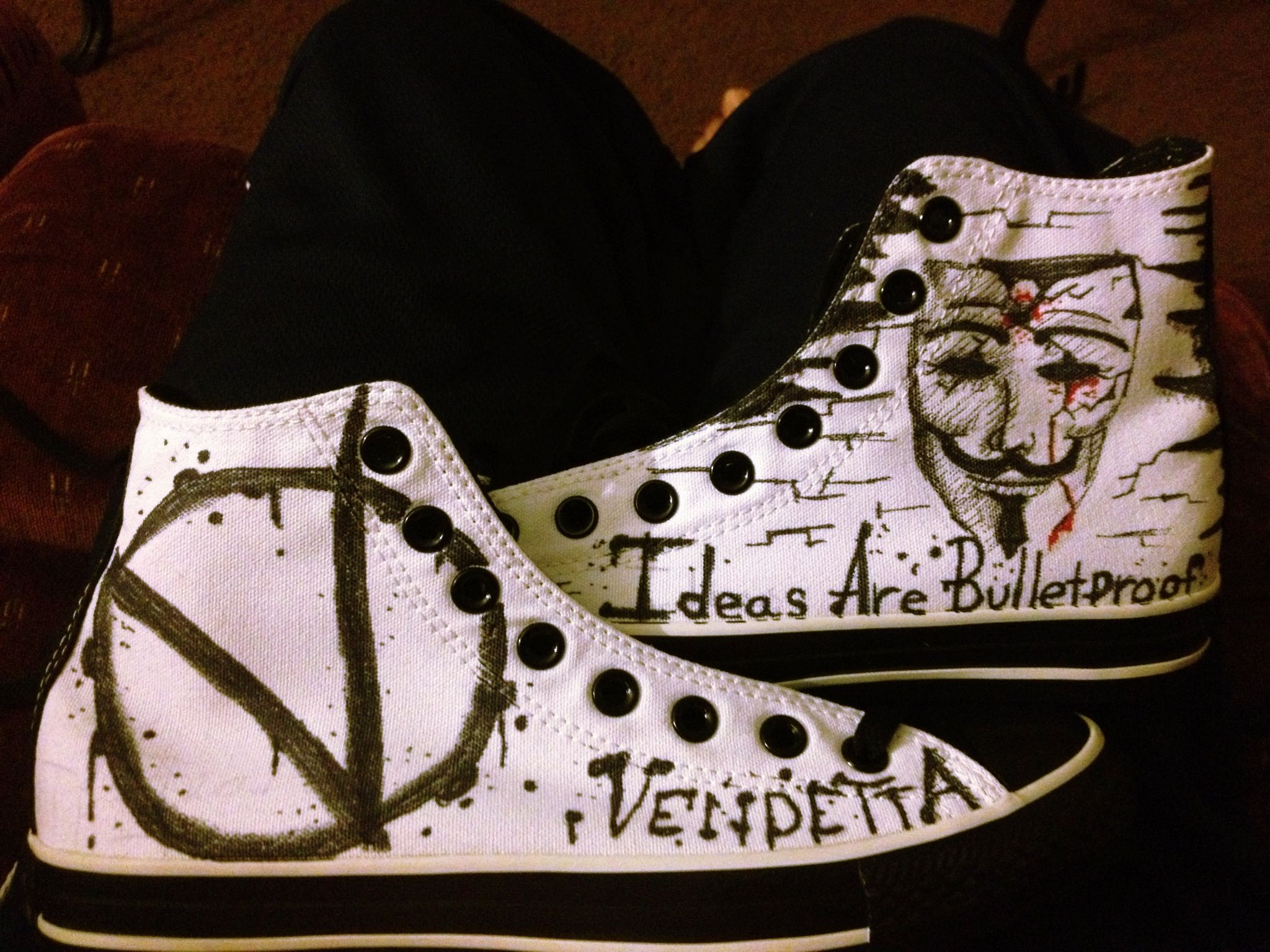 8e56209bca72 Personalized Converse Chuck Taylors done in sharpie.