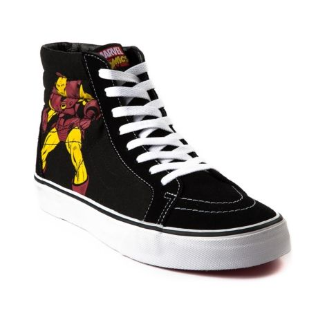 c4e6cdef06 Vans Sk8 Hi Avengers Skate Shoe in Black at Journeys Shoes. Available  exclusively at Journeys!
