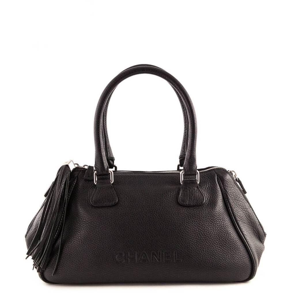 Chanel Black Leather Tassle Tote - LOVE that BAG - Preowned Authentic  Designer Handbags -  3600CAD 79e16e93deabc