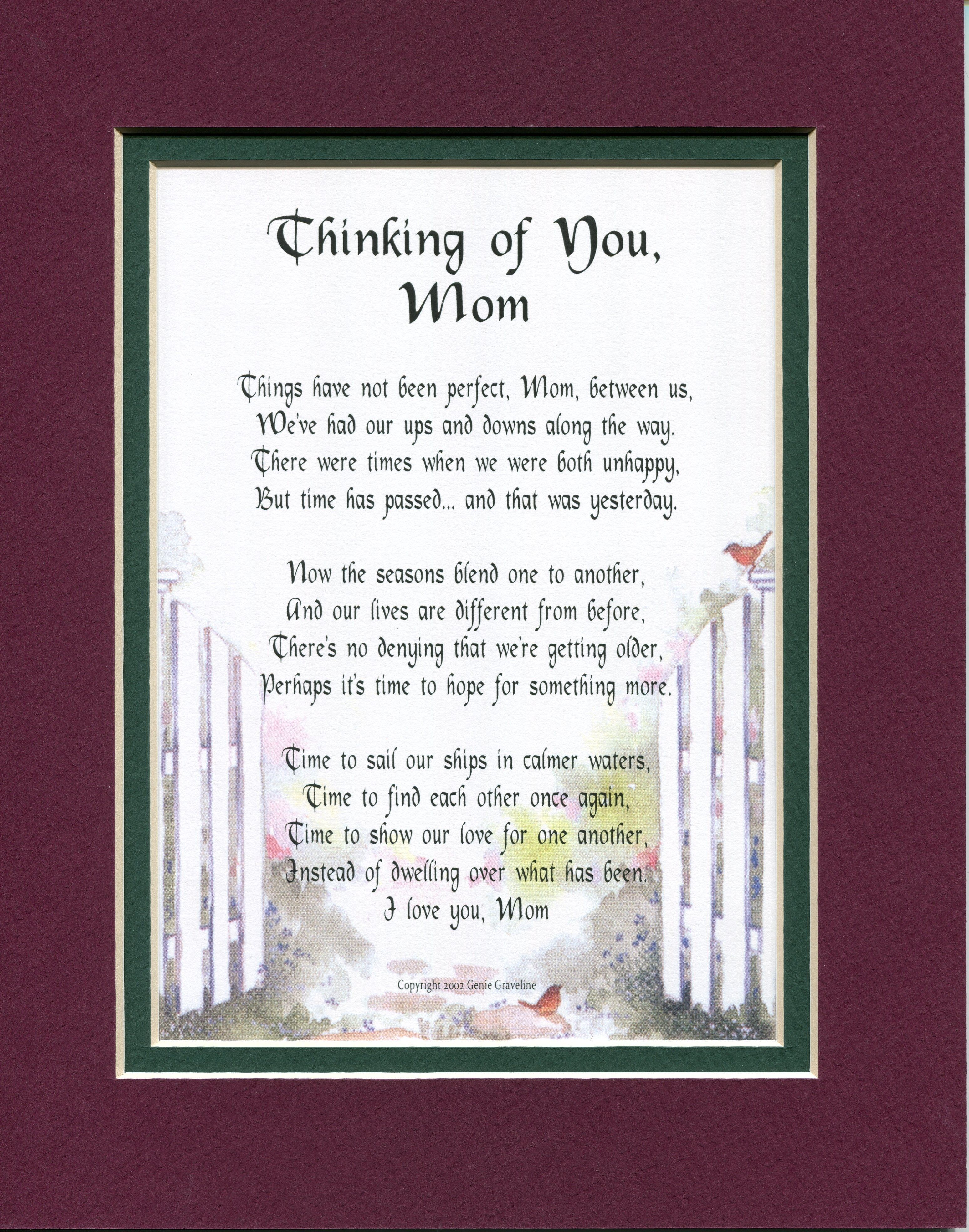 gift for an estranged mom Mom poems, Mothers day poems