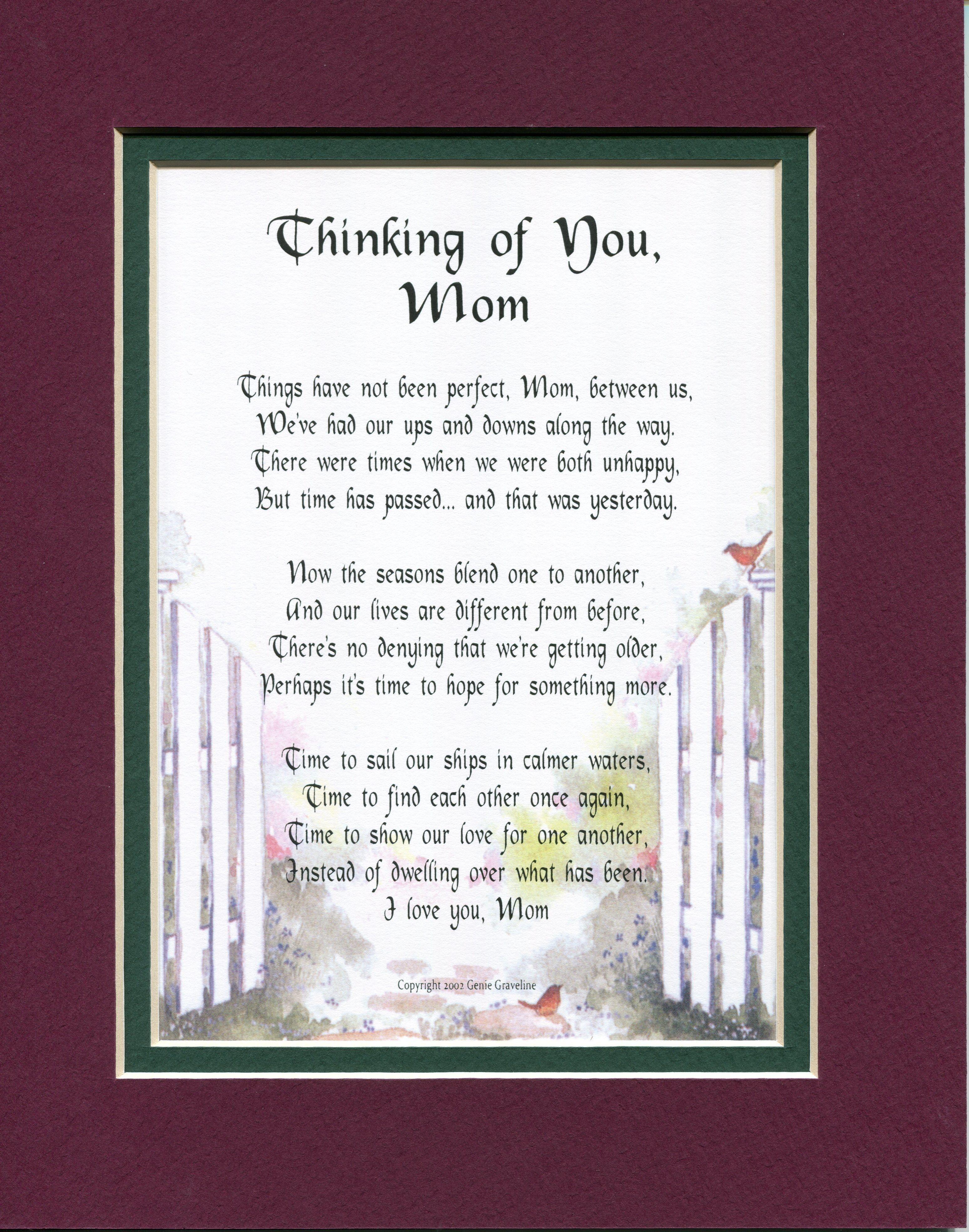 Gift For An Estranged Mom