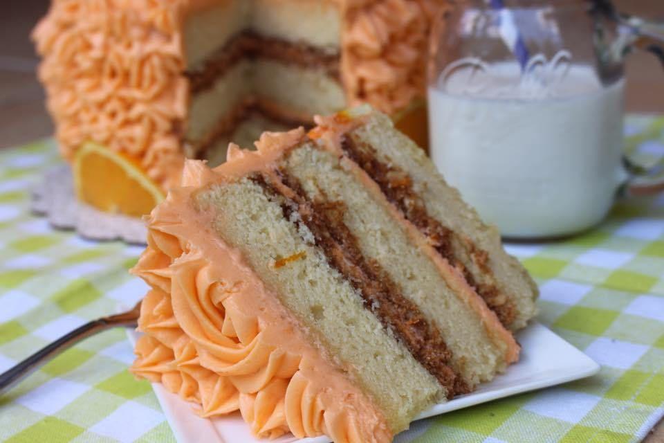 Orange crunch cake recipe crunch cake orange crunch