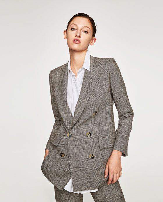 3dd6dc43 Image 5 of CHECKED DOUBLE BREASTED JACKET from Zara | FW 2017-2018 ...