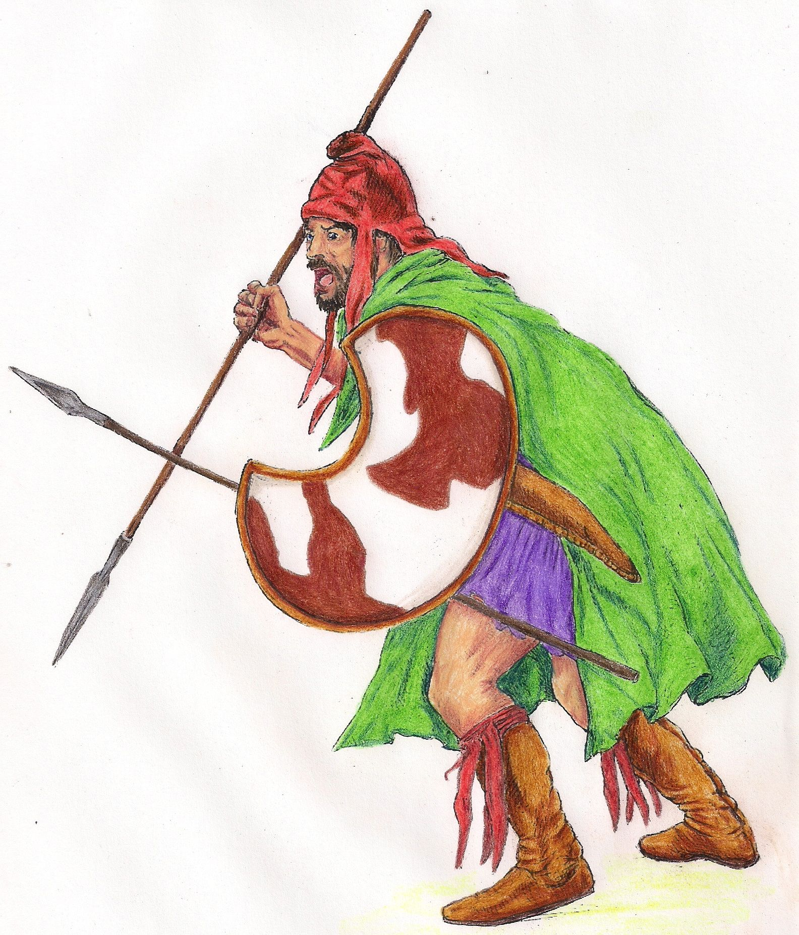 Mercenaires Peltastes perses
