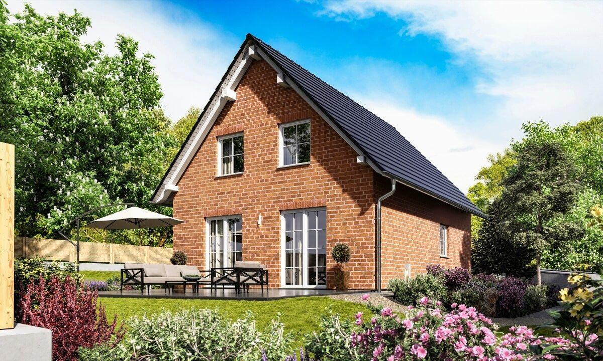 Satteldach Haus Mit Klinker Fassade Rot Landhaus Architektur