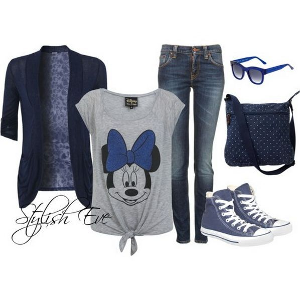 Inwould totally rock this on a Diney World day!  Jean Outfits for Women by Stylish Eve