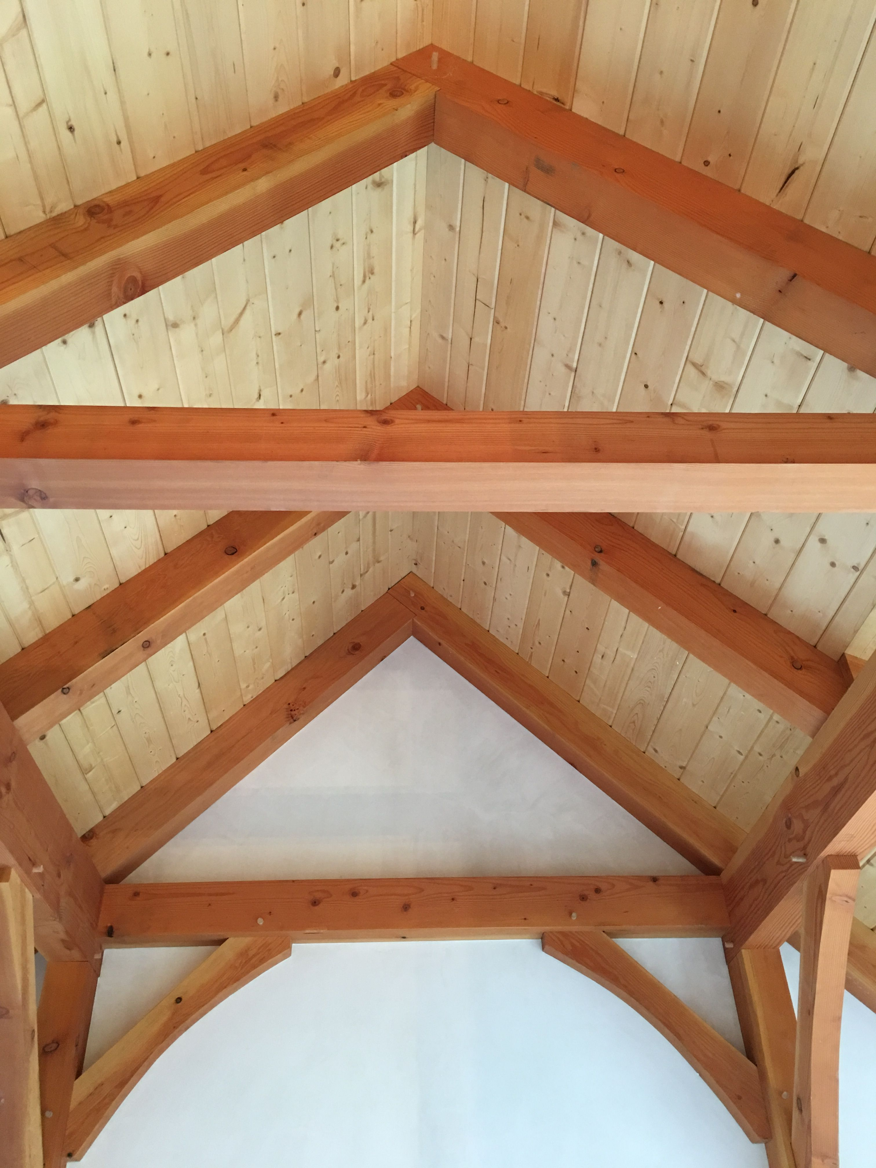 Post And Beam Home With Shiplap Ceiling The Site Of A Stone Installation Using A Combination Of Boston Blend Ledges Shiplap Ceiling Stone Veneer Post And Beam