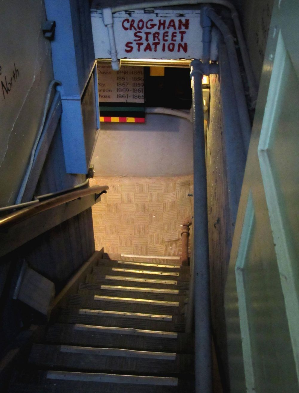 Steps to the basement of the Second Baptist Church of