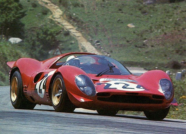 Targa Florio 1967. Piccolo Circuito delle Madonie. Native son and 1965 victor Nino Vaccarella driving the Ferrari 330 P3/4