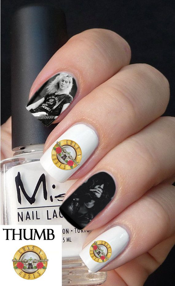 Guns N\' roses logo nail Decals by DesignerNails on Etsy, $3.95 ...