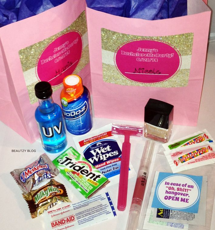 Bachelorette Party Goody Bag Products And Where To Find Makeup Lipgloss Alcohol