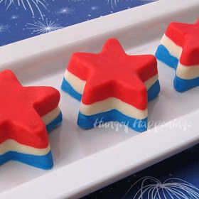 Hungry Happenings: 4th of July Dessert - Red, White, and Blue Fudge Stars