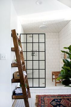 Home Decor Tile Minimal White Bathroom With White Subway Tile Moroccan Rug