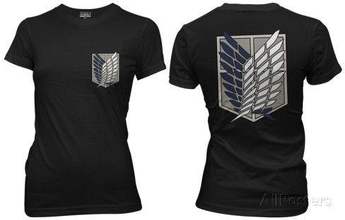 6bb6773d Juniors: Attack on Titan - Survey Corps T-Shirt | Rebuilding my ...