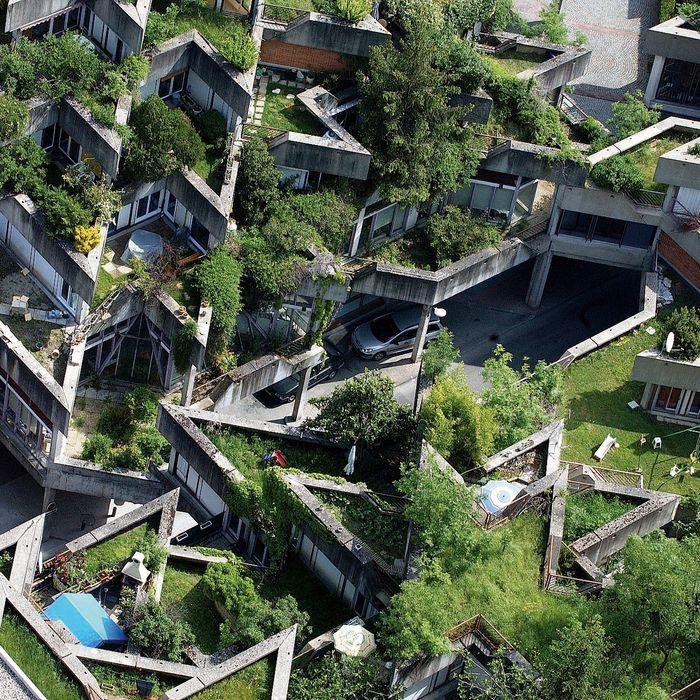 Vue a rienne du quartier des etoiles architecture logement architecture art architecture - Immeuble vegetal ...
