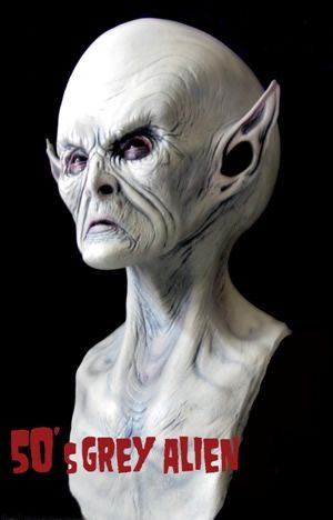halloween mask 50s gray alien - Alien Halloween Masks
