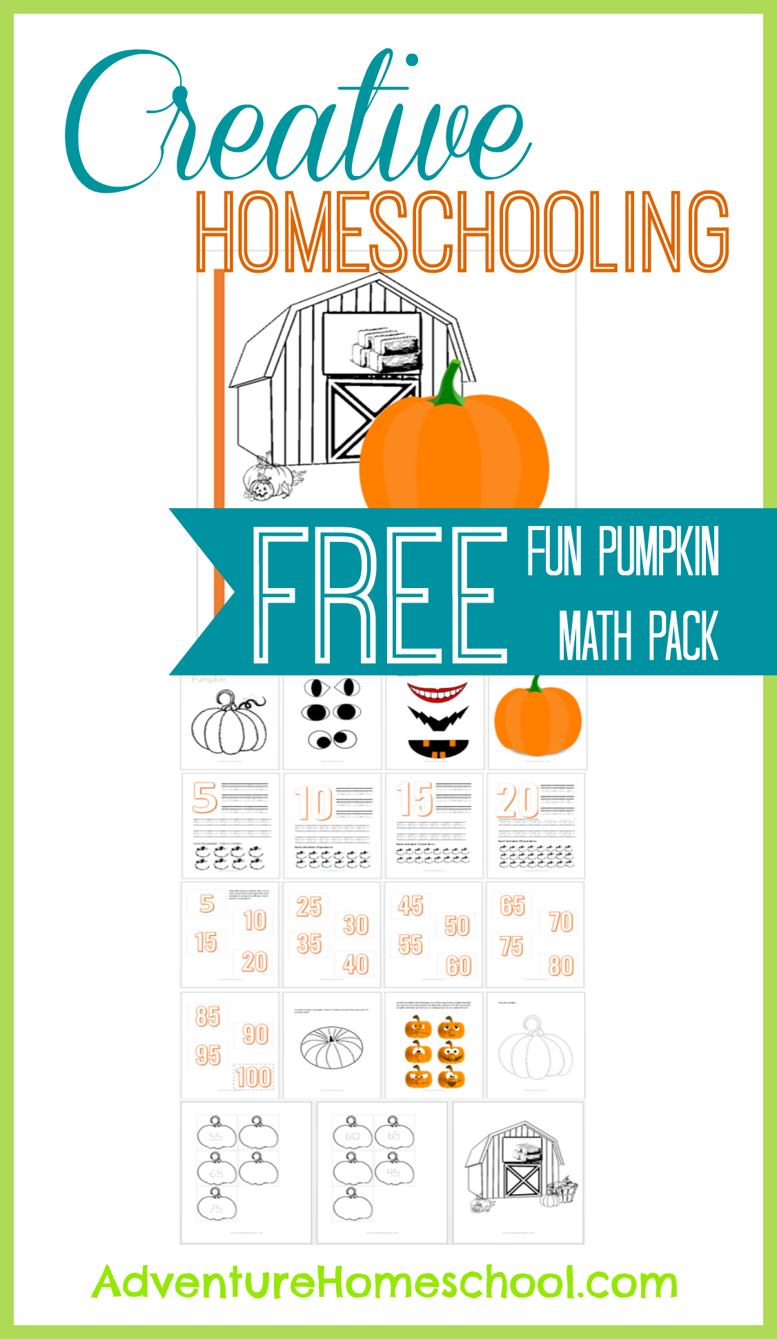 Creative Homeschooling Fall Themed Free Math Pack