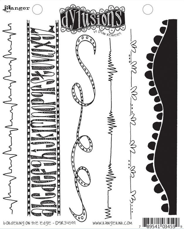 Dyan Reaveley's Dylusions Stamp Set - Bordering On The Edge. $15.00, via Etsy.