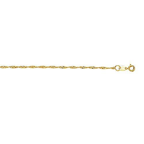 10k Yellow Gold 10 Inch 15mm Singapore Chain Anklet Bracelet With Springring Clasp ** You can get more details by clicking on the image.