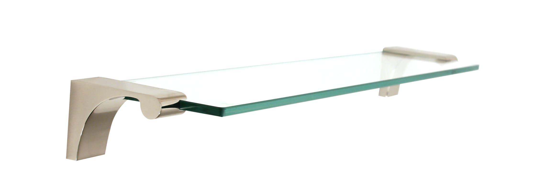 Alno A6850-18 18 Inch Wide Glass Shelf with Brass Mounting Brackets ...