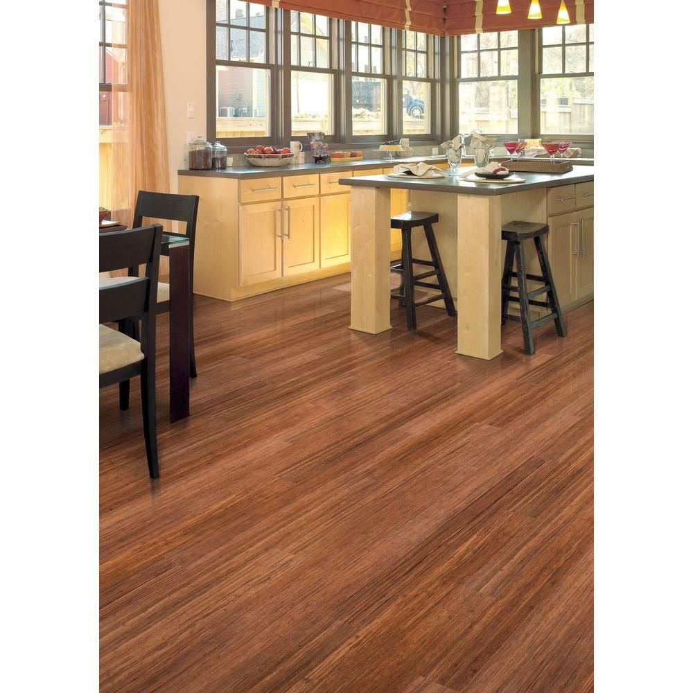 Home Legend Strand Woven Toast 3 8 In Thick X 3 3 4 In Wide X 36 In Length Click Lock Bamboo Flooring 22 Bamboo Flooring Engineered Bamboo Flooring Flooring
