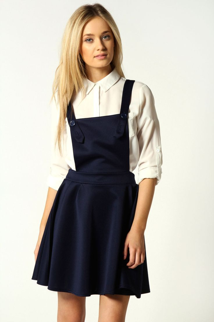 official images good official supplier denim pinafore dress winter outfit - Google Search | Fashion ...